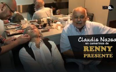 Claudio Nazoa en camerinos de RENNY PRESENTE